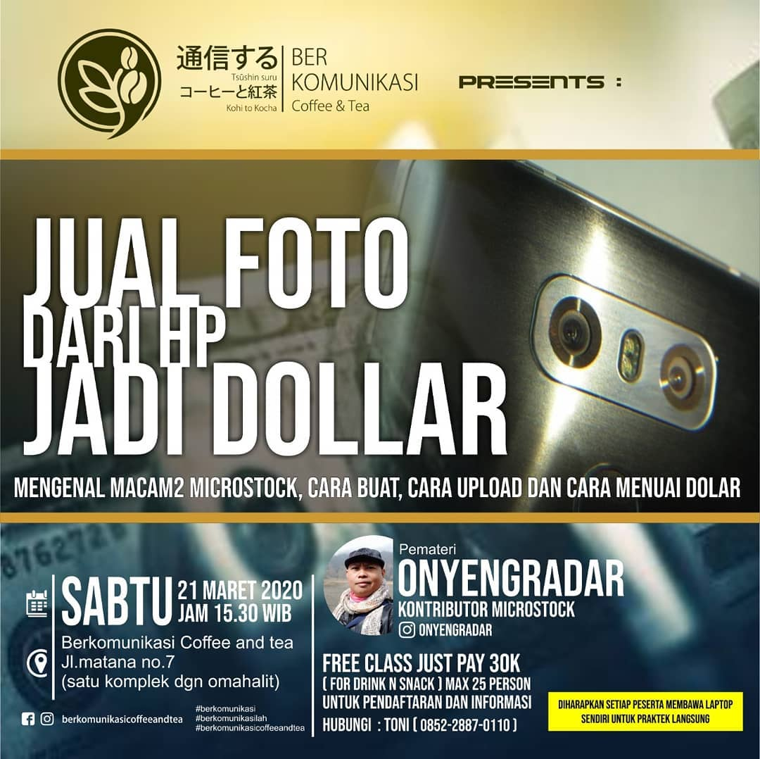Jual Foto Dari HP jadi Dollar #kelasberkomunikasi